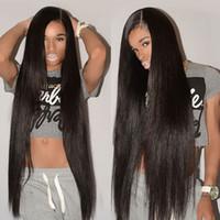 ingrosso bundle brazilliane-Guangzhou Brazillian Straight Remy capelli umani 3 Bundle Cheap estensioni del tessuto dei capelli umani vergini brasiliani offerte prezzo all'ingrosso