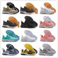 Wholesale open toe lace up shoes - 2018 New Air PRESTO BR QS Breathe Yellow Black White Running Shoes Cheap prestos 5 Women Men Sports run trainer designer Casual Sneakers