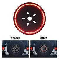 Wholesale 3rd brake - Spare Tire LED Lamp Wheel Rear 3rd Brake Decoration Light for Jeep JK Wrangler   Offroad Light