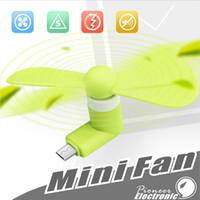 yelpaze toptan satış-Mini Mikro USB Fan Serin Cep Telefonu USB Fan Taşınabilir Soğutucu Soğutma Fanı Cep telefonu tipi-c mikro USB iPhone x