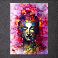 Wholesale art buddha paintings for sale - Group buy New HD printed piece canvas art Buddha Painting on canvas room decoration print poster picture canvas figure oil painting
