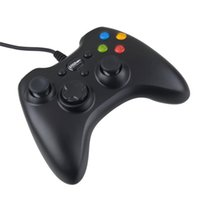 controlador de juego con cable al por mayor-Cable USB controlador de juegos Xbox 360 gamepad PC negro XBOX360 Joypad joystick Vlbration Ugame XBOX360 accesorio para PC portátil