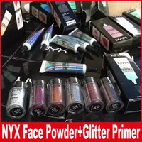 Wholesale types glitter - NYX Glitter Primer Cream Concealer Cream NYX Glitter Face and Body Shimmer Powder color Eyeshadow Powder