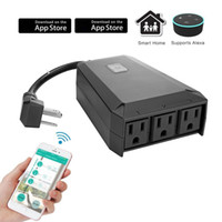 Wholesale Wireless Socket Control - Outdoor Wifi Smart Plug Smart Socket Compatible Alexa Google Assistant IP44 Waterproof WiFi Outlet, Remote Wireless Control Anywhere