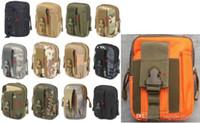 cremallera billetera militar al por mayor-2018 monedero bolsa de teléfono monedero al aire libre funda táctica militar Molle cadera cintura cinturón bolsa con cremallera para iPhone / Samsung
