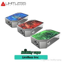 Wholesale copper cell - 2018 Original Limitless 220w Classic Box Mod copper and silver Powered By Dual Cells Contrast Arms Race Mod