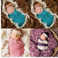 ingrosso i props di fotografia impacchettano la stirata-Puseky Baby Photography Puntelli Coperta Rayon Wraps Stretch Knit Newborn Photo Wraps Hammock Swaddling Imbottitura Sacco a pelo