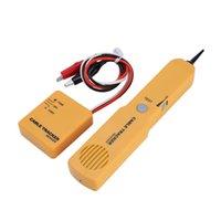 telefon ağı kablosu toptan satış-Taşınabilir RJ11 Ağ Telefon Telefon Kablo Test Cihazı Toner Tel Tracker Tracer Teşhis Ton Hattı Bulucu Dedektörü Ağ Araçları