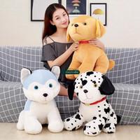 dog toys stuffed animals Canada - 2018 Pop Lovely Soft Animal Dog Plush Doll Big Stuffed Cartoon Husky Toy Pillow for Kids Gift Decoration 20inch 50cm