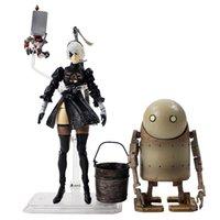 erwachsene tippspiele großhandel-14 cm NieR Automaten figur modell spielzeug Hot Game NieR Automata YoRHa No. 2 Typ B 2B figur geschenk für erwachsene