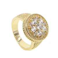 Wholesale finger ring diy - Snaps Buttons Charm Finger Rings DIY mens gold color hiphop Jewelry for women men wedding party luxury round rings 2018