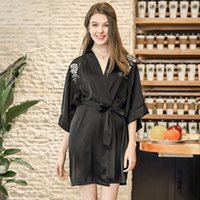 68aa630e51 Spinning Silk Pajamas Bathrobes Women s Summer Silk Single Nightgown  Tracksuit