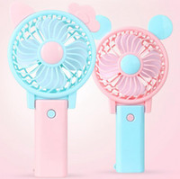 Wholesale usb removable - Portable Folding Fan USB Charging Cool Removable Rotating Handheld Mini Outdoor Fans Pocket Folding Fan Party Favor OOA4918