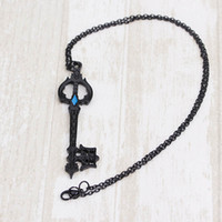 Wholesale Blade Figure - jewelry Hot Game Kingdom Hearts Oblivion Blade Charms Necklace Alloy Jewelry Figure Cosplay for women film jewelry for fans 162626