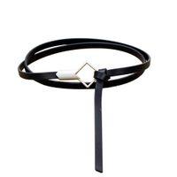ingrosso cinghie versatili-Cintura sottile in pelle PU Cintura nera femminile Cintura donna Cinturon Mujer Cinto Feminino Cinturones Cintura versatile