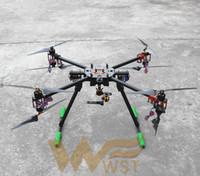 fırçasız motorlu pervane toptan satış-YENI WST DIY T1020-2 Büyük güç 4-asix Triaxial PTZ4114 ile 1050mm quadcopter 320 / 400kv Fırçasız MotorAlıcı dişli
