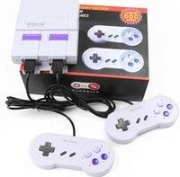 Wholesale Box Arcade Games - Super NES Game Consoles SNES Mini TV Video Handheld Retro Player NES With Retail Box 660