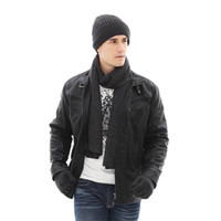IANLAN Unisex Winter Set Thickening Beanies + Long Scarves + Non-slip Touch  Screen Gloves Knit Hat Muffler Mitten Sets IL00200 6e8574cd8f57