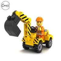 ingrosso ragazzo di apprendimento-Bambini Building Blocks Bambini DIY Assemblare Ingegneria Escavatore Mattoncini autobloccanti Modelli Ragazzi Ragazze Imparare giocattoli educativi