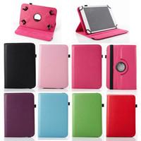 orta tablet inç kılıfları toptan satış-Evrensel 360 Dönen Ayarlanabilir Çevirme PU Deri Kılıf Kapak Standı 7 8 9 10 10.1 10.2 inç Tablet PC MID
