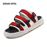 Wholesale Red Gram - GRAM EPOS 2018 Summer Men Sandals flat Upstream Shoes Male green red Casual Beach Shoes Walking slides Gladiator Sandals
