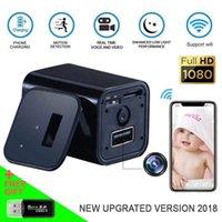 ingrosso videocamera a muro-telefoni a muro HD 1080P macchina fotografica di WiFi Socket fotocamera USB Charger Mini DV Motion Detection plug mini macchine fotografiche Home / Office Telecamere di sicurezza
