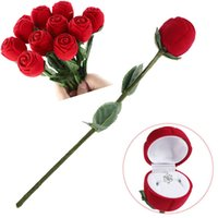 Wholesale gift case packaging box for sale - 4cm cm Red Rose Shaped Jewelry Cases Display Packaging Gift Boxes for Necklace Earrings Ring Bracelets