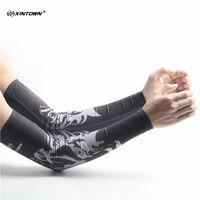 mangas de braço feminino venda por atacado-Dos homens Quick Dry Impresso Livrar Arm Warmers UV Manguito Manguito Mangas Esportes Ao Ar Livre Da Equilíbrio do Braço Mangas