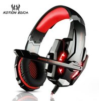 Wholesale wireless headsets for laptops - G9000 KOTION EACH 3.5mm Gaming Headsets Earphone with Mic Headphones for PC laptop PlayStation 4 smartphone With Retail package JKE003