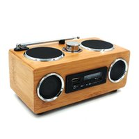 Wholesale china mp3 player radio resale online - Factory Handmade Bamboo Radio Speaker Hot Portable Hi Fi Wood Speaker wooden TF USB Card Subwoofer FM Radio with Remote MP3 player