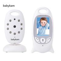 mode vidéo moniteur bébé achat en gros de-Babykam vigila bebes bébé caméra 2.0 pouces LCD IR Vision nocturne 8 Lullabies Température moniteur 2 voies conversation vidéo nounou vigilabebe