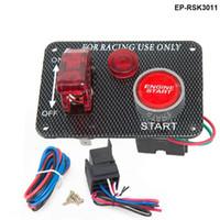 interruptor led de alternância 12v venda por atacado-Novo 12 V LED Vermelho Racing Car Engine Start Botão Interruptor de Ignição Painel Alternar EP-RSK3011 Quente