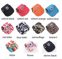 Wholesale hot dog hat - TAILUP Hot Sale Sun Hat For Dogs Cute Pet Casual Cotton Baseball Cap Chihuahua Yorkshire Pet Products 11Colors 679
