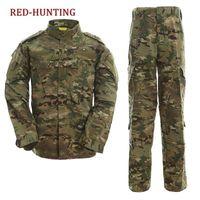 camouflage anzüge kampf großhandel-CP ACU Outdoor Tarnung Armee Uniform Tactical Uniform Kampf Jagd Anzug BDU Trainingsjacke und Hose