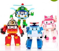 2017 Robocar Poli Toy Transformation Robot Car Toys Poli Robocar Coréia Brinquedos Best Gifts For Kids 4pcs / set Without Box