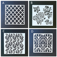 Wholesale Paint Templates - 20*20cm DIY Craft Home Decor Vintage Flower Template Reusable Layering Craft Stencils For Wall Painting Scrapbooking Stamps Album Decor