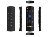ingrosso mouse senza fili per pc-Telecomandi wireless 2.4G MX3 Fly Air Mouse Keyboard per Android TV box MXQ M8S Mini PC