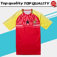 jersey amarillo rojo al por mayor-2018 Ghana Soccer Jersey Ghana equipo de fútbol nacional Home soccer Shirt 2018 Red Yellow football uniforme de ventas