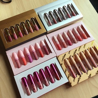 Wholesale birthday sets - In stock makeup Vacation Edition  holiday  birthday ,i want it all Send me more Nudes 6pcs set matte lipstick lip gloss 12 sets