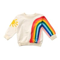 Wholesale cool baby clothes online - Pudcoco cool toddler Baby Kid Girl Coats Rainbow Sunshine print Shirt autumn Clothes long sleeve Jackets Coats for baby girls