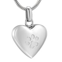 Wholesale gold etching for sale - Group buy ZZL160 Paw Etching Silver Gold Rose Gold and Black Tone Pet Cremation Necklace Keeps Your Loved Dog Cat Ashes Safe