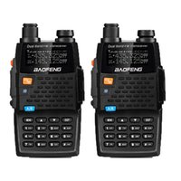 transceptor 3km al por mayor-2PCS Baofeng UV-5R 4ta generación Black Knight 136-174 / 400-520mHZ Radio bidireccional Profesional FM Transceptor walkie talkies