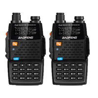 Wholesale generations radio - 2PCS Baofeng UV-5R 4th Generation Black Knight 136-174 400-520mHZ Two Way Radio Professional FM Transceiver walkie talkies