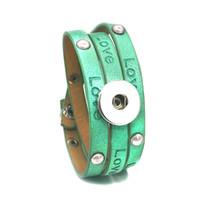 el yapımı aşk düğmesi toptan satış-Aşk PU Deri 293 El Yapımı fit Kadınlar Için 18mm Snap Düğmesi Bilezik Değiştirilebilir Charm Takı Erkekler hediye LUWELLEVER