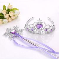elmas taç çocukları toptan satış-Yeni Kızlar Prenses Taç Saç Aksesuarları Gelin Taç Kristal Elmas Tiara Hoop Kafa Saç Bantları Çocuklar Için Parti Hairbands