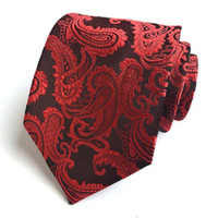 Wholesale ascot ties for men resale online - paisley tie men cm necktie gifts for men polyester ascot ties decoration for collar men clothing accessories