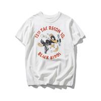 Wholesale Birds Tshirt - 2018 Summer Heavy Cotton Vintage Black Panther Bird Printed Tshirt Streetwear High Quality Tops T Shirt Short Sleeve T-shirt Men