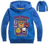 teen jungen kleidung großhandel-2018 Herbst fünf Nächte im Freddys Sweatshirt für Jungen 2-12 Jahre Schule Hoodies für Jungen FNAF Kostüm für Jugendliche Sport Kleidung