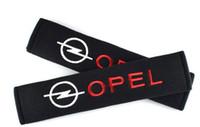 cubierta de astra al por mayor-Cubierta del cinturón de seguridad Car Styling Estuche de algodón puro para Opel Astra H G J Insignia Mokka Zafira Corsa Vectra C D Accesorios Car-styling