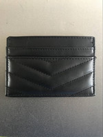 Wholesale s bag classic online - NEW classic fashion PU Mini case with card holder V lattice card holder Coin bag Luxury VIP gift